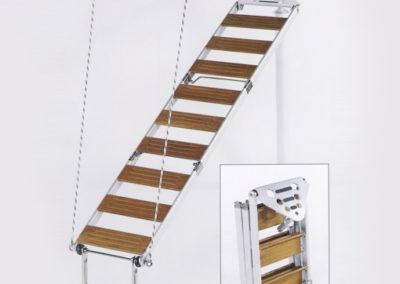 Scaletta In Legno Pieghevole : Passerella scaletta pieghevole in alluminio e legno per barche